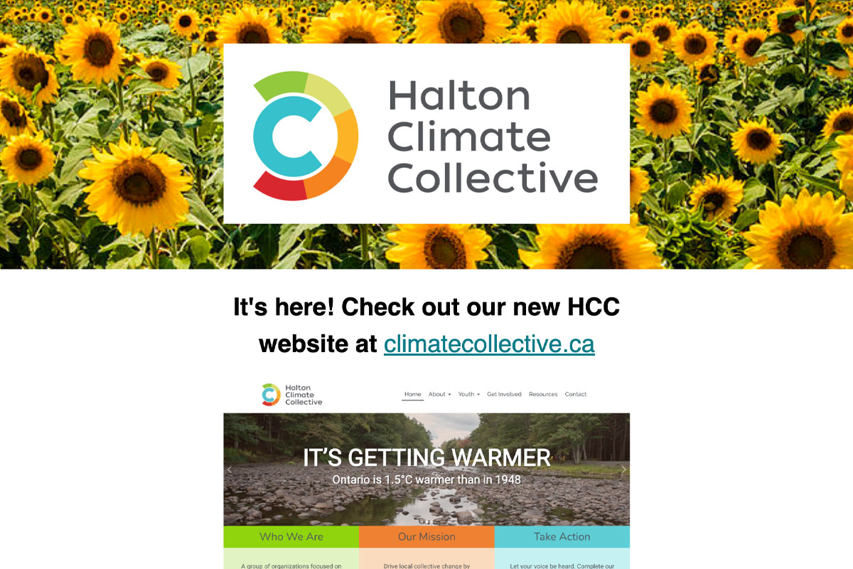 Halton Climate Collective August 2019 Newsletter