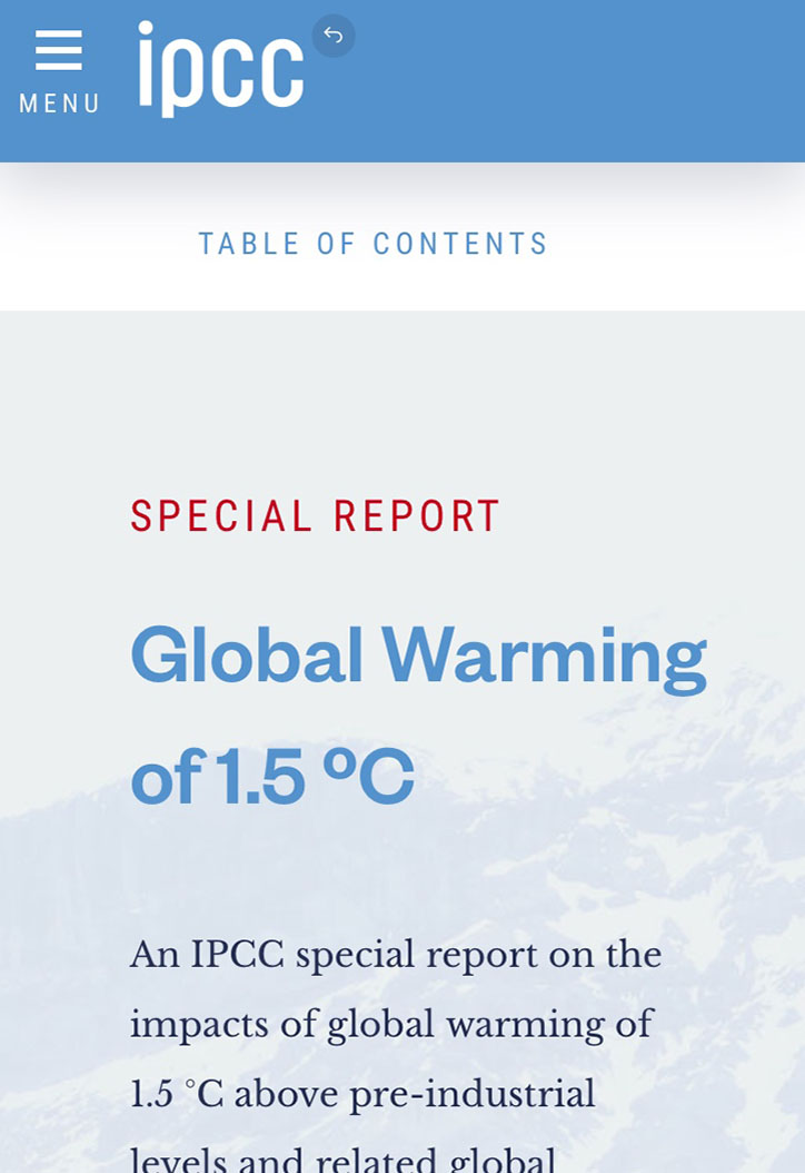 Global Warming of 1.5 ºC
